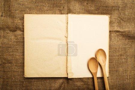 Old open recipe book
