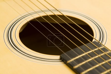 Photo for Acoustic guitar rosette and sound hole. - Royalty Free Image