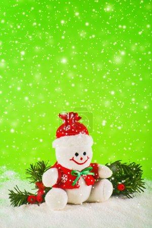 Photo pour Bonhomme de neige pour les vacances de Noël et nouvel an - image libre de droit