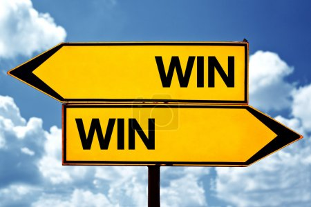 Win-win situation, opposite signs