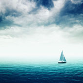 Sailing boat on the sea