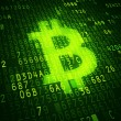 Bit coin symbol as virtual currency symbol. Concep...