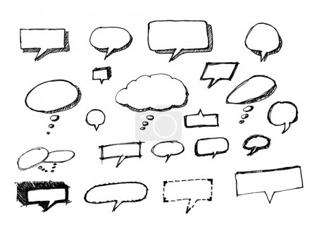 Speech bubbles or balloons