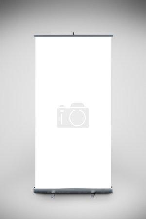 Photo pour Rouleau vide bannière comme copier le modèle espace pour votre portefeuille de texte ou de conception. point de l'élément de graphique marketing vente. - image libre de droit