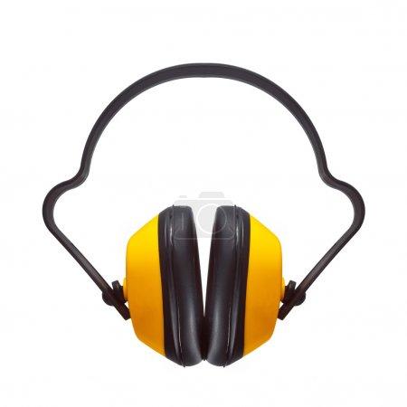 Photo pour Cache-oreilles de protection que les équipements de sécurité industrielle isolé sur fond blanc. - image libre de droit