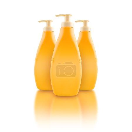Nourishing body milk bottles