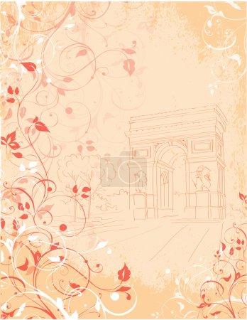 Background Arc de Triomphe, Triumphal arch, Paris,...