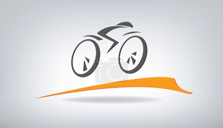 Illustration for Stylized bicycle, vector illustration - Royalty Free Image