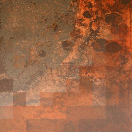 Illustration pour Brown Abstract Conception de fond rustique en format vectoriel modifiable - image libre de droit