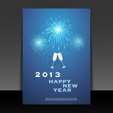 New Year Flyer, Card or Background