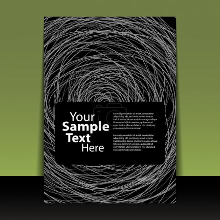 Illustration pour Flyer abstrait foncé ou conception de couverture en format vectoriel modifiable - image libre de droit