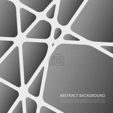 Photo for Black and White Abstract Background Design in Editable Vector Format - Royalty Free Image