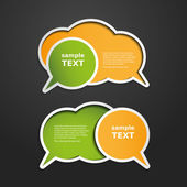Colorful Labels Tags Speech Bubbles