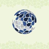 Petal Globe Design Vector