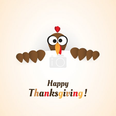 Illustration for Happy Thanksgiving - Holiday Vector Template Illustration for Your Greeting Card - Royalty Free Image
