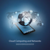Global Networks Cloud Computing - Illustration for Your Business