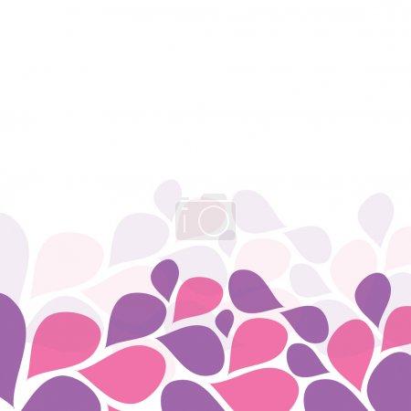 Illustration for Flower Purple Petals Invitation Template - Royalty Free Image