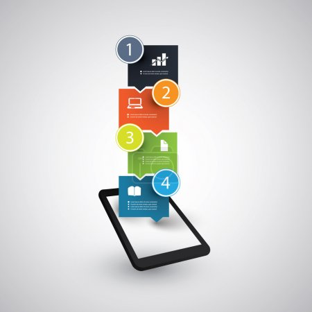 Infographic Design - Tablet and Mobile Phone Trends Concept
