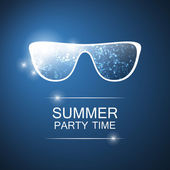 Abstract Summer Party Card, Cover or Flyer Template