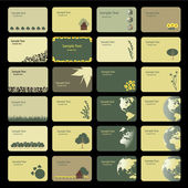 Business Card Backgrounds: Earth Nature Flowers