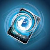 Globální internet koncept s tablet pc