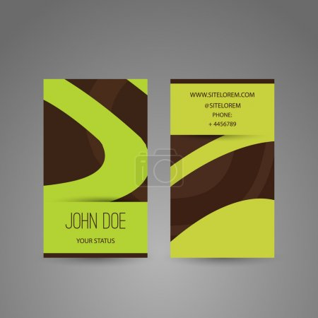 Business Card with Abstract Curves Pattern