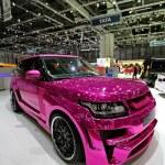 GENEVA - MARCH 8 : A HAMANN Range Rover Vogue on d...
