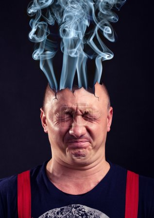 Photo for Stressed man with exploded head - Royalty Free Image