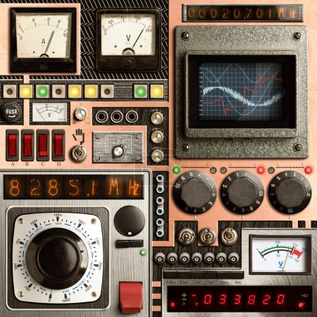 Photo for Control panel of a vintage research device - Royalty Free Image