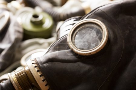 Photo for Closeup of old dirty gas mask - Royalty Free Image