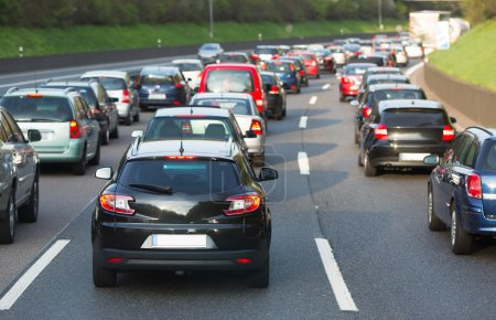 Photo for Traffic jam on a freeway - Royalty Free Image