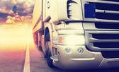 """Постер, картина, фотообои """"Truck on highway"""""""
