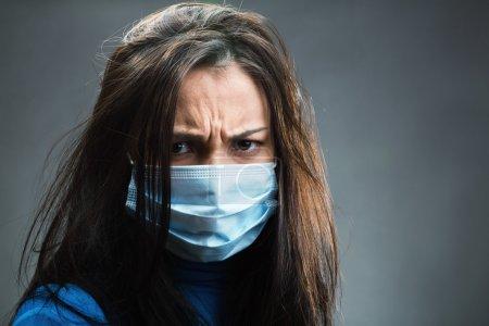 Women weared gauze bandage