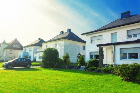 European suburban houses