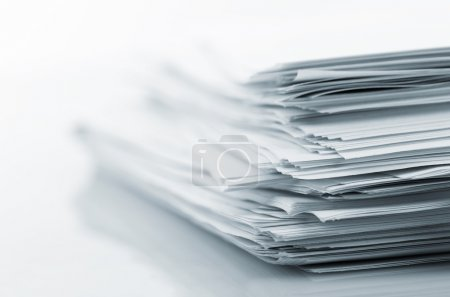 Photo for Stack of white papers isolated on white background - Royalty Free Image
