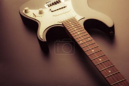 Photo for Electric guitar fretboard. Toned image - Royalty Free Image