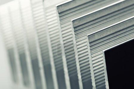 Metal stripped radiator