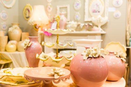 Nice ceramic vases in luxury interior