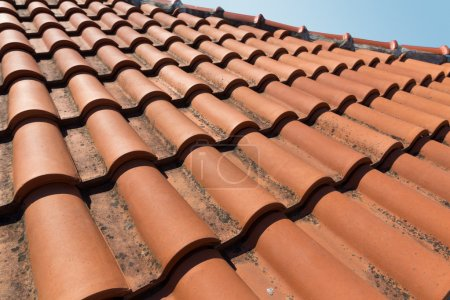 Closeup of roof tiles