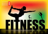 Fitness woman silhouette
