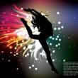 Woman dancer silhouette illustration...