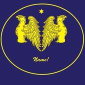 Stylized emblem with gold eagle