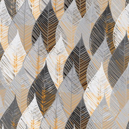 Illustration for Abstract foliage seamless pattern background - Royalty Free Image