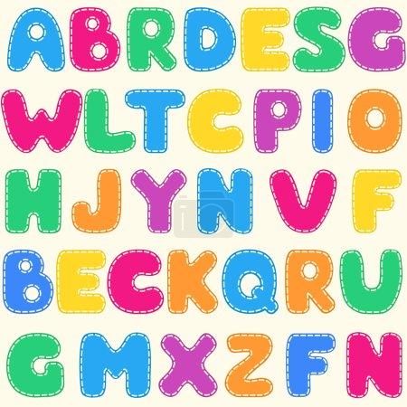 Seamless children's bright alphabet pattern. Vecto...