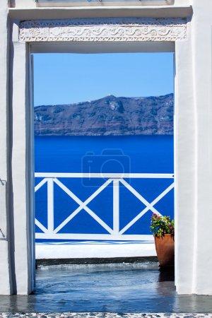 Fira, la capitale de l'île de Santorin en Grèce