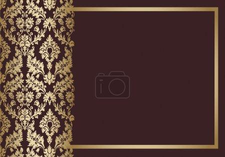 Background floral vintage vector