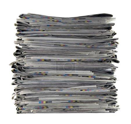 Foto de Pila de periódicos con trazado de recorte - Imagen libre de derechos