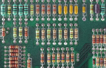 Photo for Circuit Board with resistors - Royalty Free Image