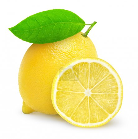 Photo for Fresh lemon isolated on white - Royalty Free Image