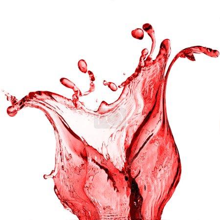 Photo pour Éclaboussure de jus rouge - image libre de droit